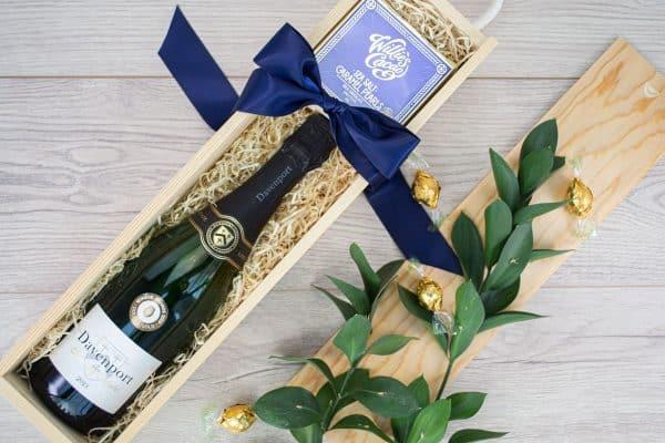 Eshott English Wine and Chocolate Box